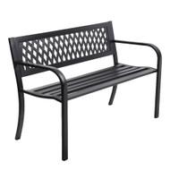 Gardeon Cast Iron Modern Garden Bench - Black