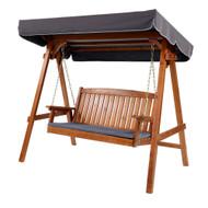 Gardeon Wooden Swing Chair Garden Bench Canopy 3 Seater Outdoor Furniture C1