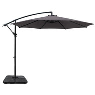 Instahut 3M Umbrella with 50x50cm Base Outdoor Umbrellas Cantilever Sun Stand UV Garden Charcoal