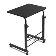 Portable Adjustable Wooden Latpop Stand - Black