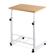 Mobile Twin Laptop Desk - Light Wood D1