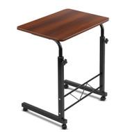 Mobile Twin Laptop Desk - Dark Wood D2