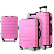 Wanderlite 3PC Luggage Suitcase Trolley - Pink