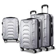 Wanderlite 3PCS Carry On Luggage Sets Suitcase TSA Travel Hard Case Lightweight Silver