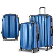 Wanderlite 3pc Luggage Sets Suitcases Set Travel Hard Case Lightweight Blue
