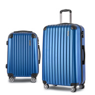 Wanderlite 2PCS Carry On Luggage Sets Suitcase Travel Hard Case Lightweight Blue