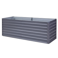 Greenfingers Garden Bed 240 x 80 x 77cm Galvanised Steel Raised Planter