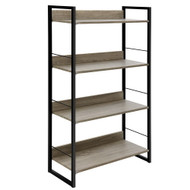 Artiss Book Shelf Display Shelves Corner Wall Wood Metal Stand Hollow Storage