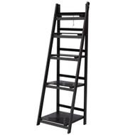Artiss Display Shelf 5 Tier Wooden Ladder Stand Storage Book Shelves Rack Coffee