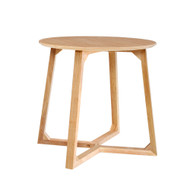 Artiss Coffee Table Round Side Tables Nightstand Bedside Furniture Wooden Beige