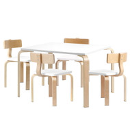 Artiss Kids Table and Chair Set Study Desk Dining Wooden DS