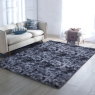 Artiss Gradient Shaggy Rug 200x230cm Carpet Area Rugs Dark Grey