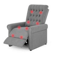 Artiss Massage Recliner Chair Electric Armchair 8 Point Heated Grey