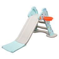 Kids Slide And Basketball Activity Set T2 Blue Grey