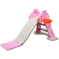 Kids Slide And Basketball Activity Set T2 Pink Grey