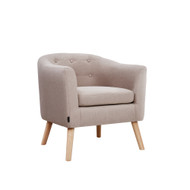 Artiss ADORA Armchair Tub Chair Single Accent Armchairs Sofa Lounge Fabric Beige