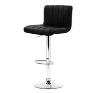 Artiss 2x Leather Bar Stools Kitchen Chair Bar Stool Black Lana Gas Lift Swivel