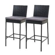 Gardeon Outdoor Bar Stools Dining Chairs Rattan Furniture X2