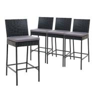 Gardeon Outdoor Bar Stools Dining Chairs Rattan Furniture X4