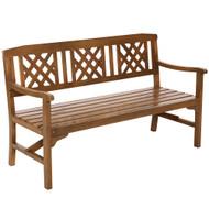Gardeon Wooden Garden Bench 3 Seat Patio Furniture Timber Outdoor Lounge Chair Natural