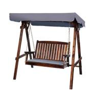 Gardeon Swing Chair Wooden Garden Bench Canopy 2 Seater Outdoor Furniture OF1