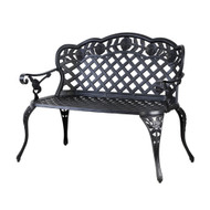 Gardeon Garden Bench Patio Porch Park Lounge Cast Aluminium Outdoor Furniture