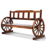 Gardeon Garden Bench Wooden Wagon Chair 3 Seat Outdoor Furniture Backyard Lounge Charcoal