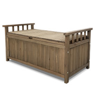 Gardeon Outdoor Storage Box Wooden Garden Bench Chest Toy Tool Sheds Furniture TS1