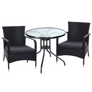 Gardeon Outdoor Dining Chairs Bistro Patio Furniture Chair Wicker Garden Extra Large Tea Coffee Cafe Bar Set