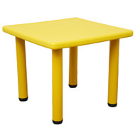 Kids Toddler Children Square Playing Activity Party Table Yellow Small