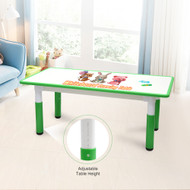 120x60cm Kids Height Adjustable Whiteboard Drawing Table Desk Green