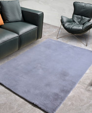 New Designer Fluffy Shaggy Floor Rug Carpet Light Grey 200x140cm