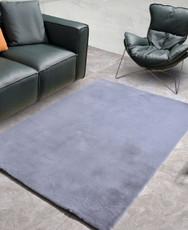 New Designer Fluffy Shaggy Floor Rug Carpet Light Grey 230x160cm