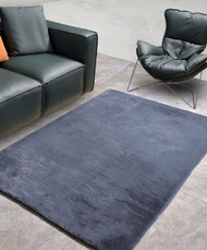 New Designer Fluffy Shaggy Floor Rug Carpet Dark Grey 230x140cm