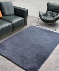 New Designer Fluffy Shaggy Floor Rug Carpet Dark Grey 230x140cm