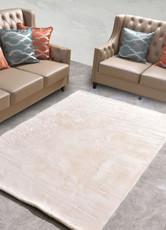 New Designer Fluffy Shaggy Floor Rug Carpet Cream White Beige 230x160cm