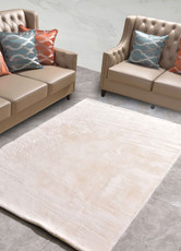 New Designer Fluffy Shaggy Floor Rug Carpet Cream White Beige 300x200cm