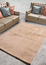 New Designer Fluffy Shaggy Floor Rug Carpet Camel Brown 300x200cm