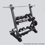 3-Tier Heavy Duty Steel Metal Dumbbell Barbell Rack Storage Racking Home Gym