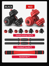 40KG Red Premium Dumbbell Set Barbell Weight Plate Home Gym Fitness Exercise