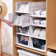 2x Large Foldable Slidable Stackable Kitchen Study Multi Purpose Storage Drawer
