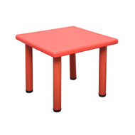 Kids Toddler Children Square Playing Activity Party Table Red Small