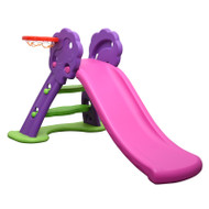 Kids Slide And Basketball Activity Set Purple Pink