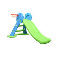 Kids Slide And Basketball Activity Set Blue Green