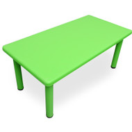 Large Kids Toddler Rectangle Playing Activity Study Table Green