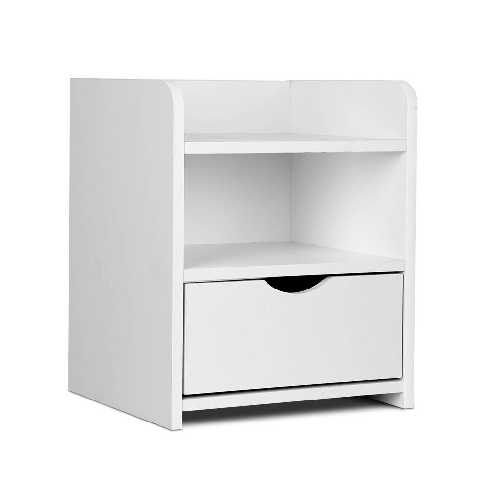 108327f520c2 Artiss Bedside Table Drawer - White. Your Price: $41.90 (You save $25.10).  Image 1