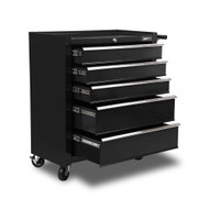 5 Drawer Mechanic Tool Box Trolley - Black