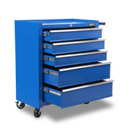 5 Drawer Mechanic Tool Box Trolley - Blue