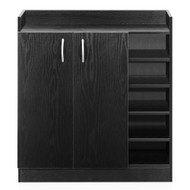 2 Doors Shoe Cabinet Storage Cupboard - Black
