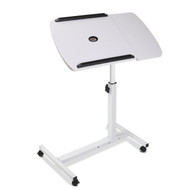 Adjustable Computer Stand with Cooler Fan - White